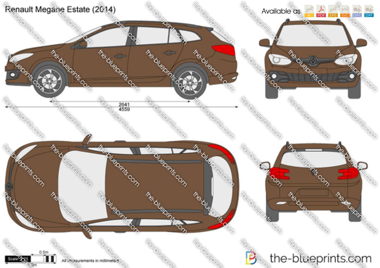 renault megane estate vector drawing. Black Bedroom Furniture Sets. Home Design Ideas