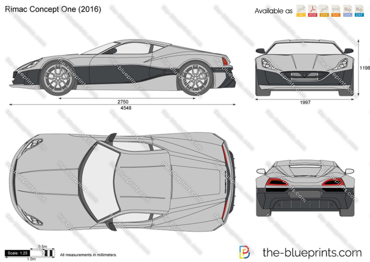 Maserati Ghibli Price >> Rimac Concept One vector drawing