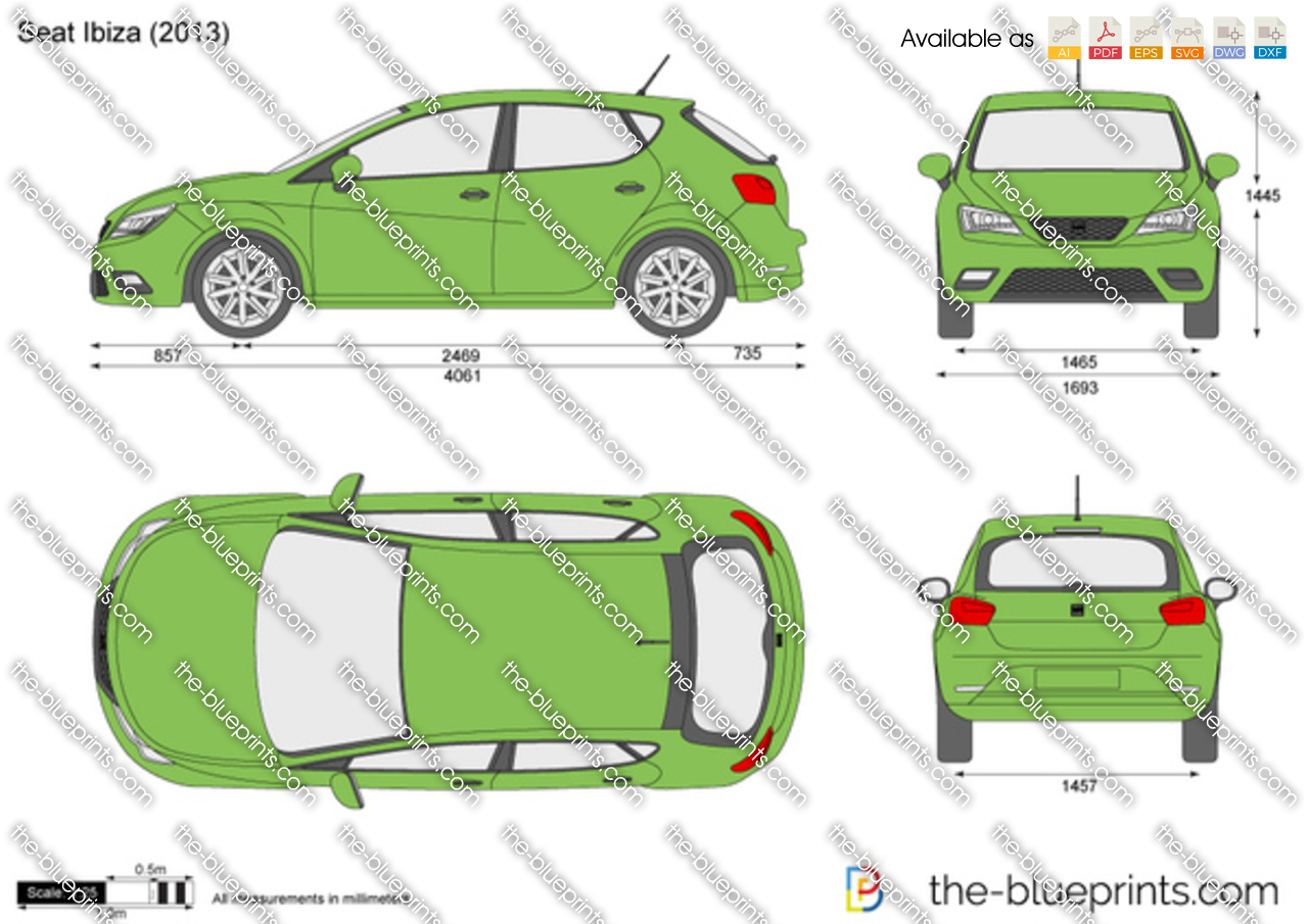seat ibiza 5 door vector drawing. Black Bedroom Furniture Sets. Home Design Ideas