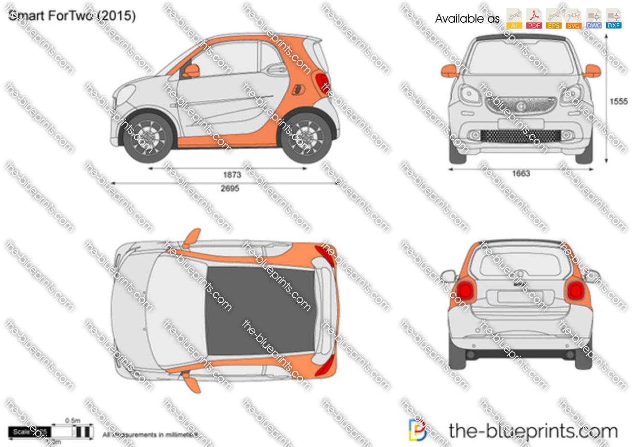 Smart Fortwo Vector Drawing