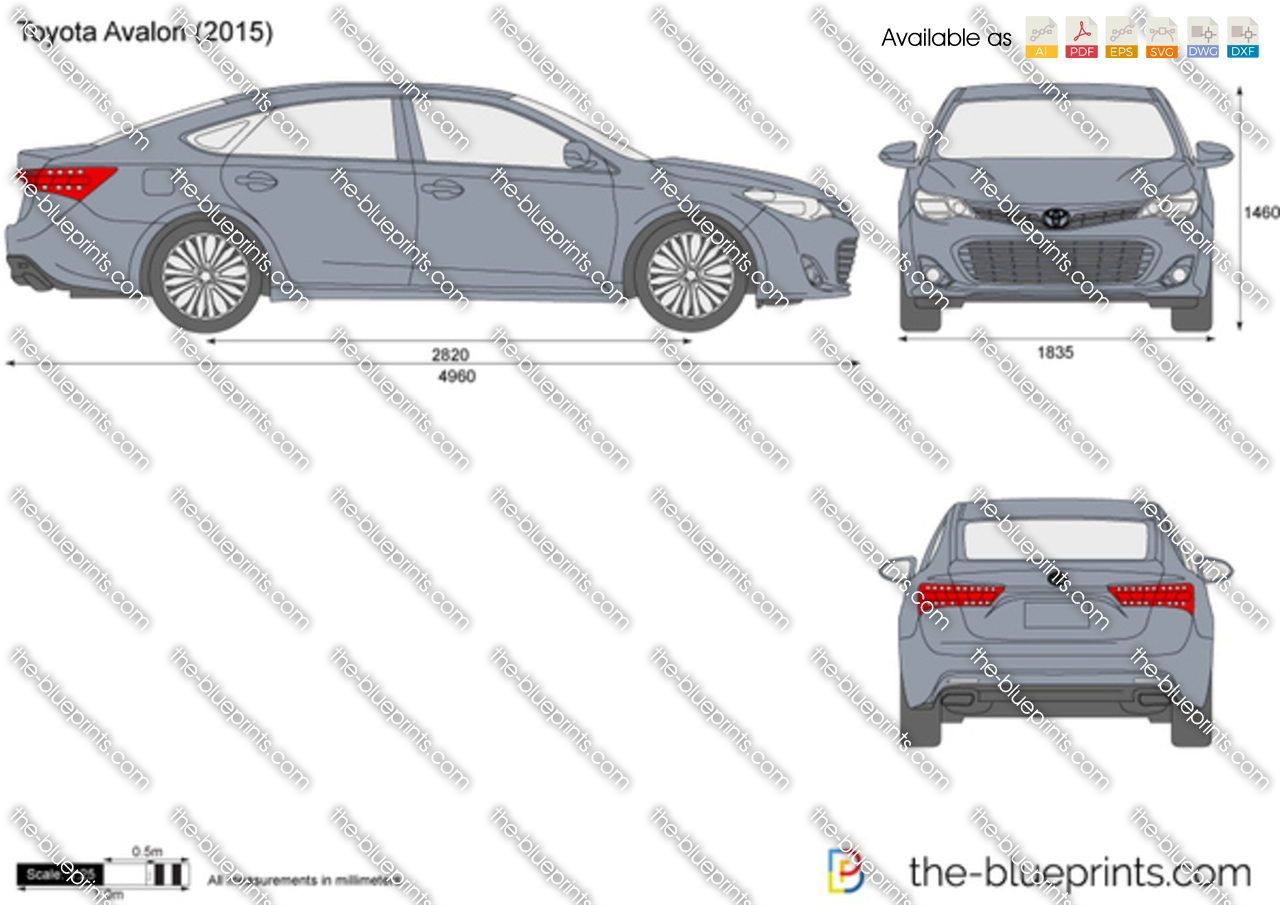 Toyota Avalon Vector Drawing
