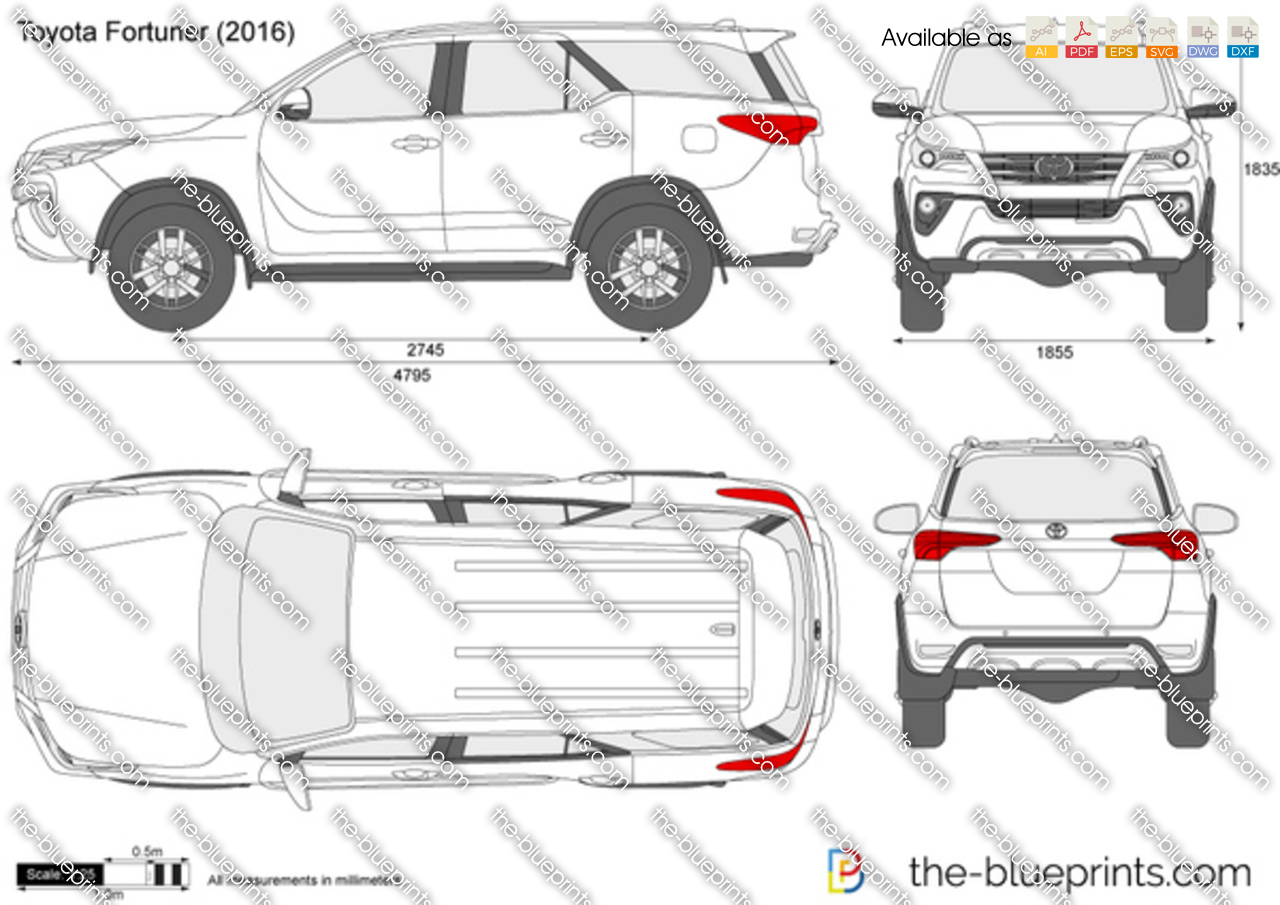 The-Blueprints.com - Vector Drawing - Toyota Fortuner