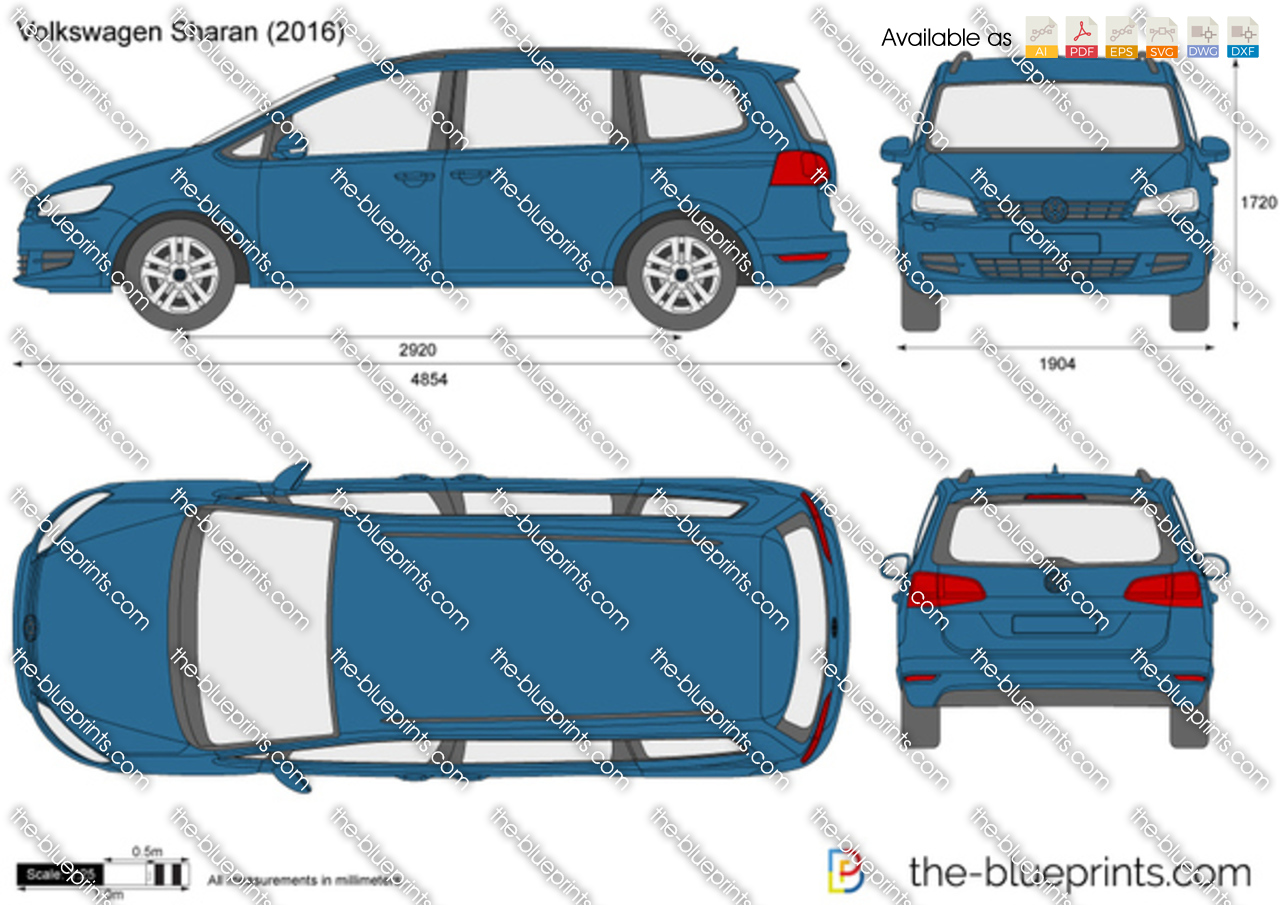 volkswagen sharan vector drawing. Black Bedroom Furniture Sets. Home Design Ideas