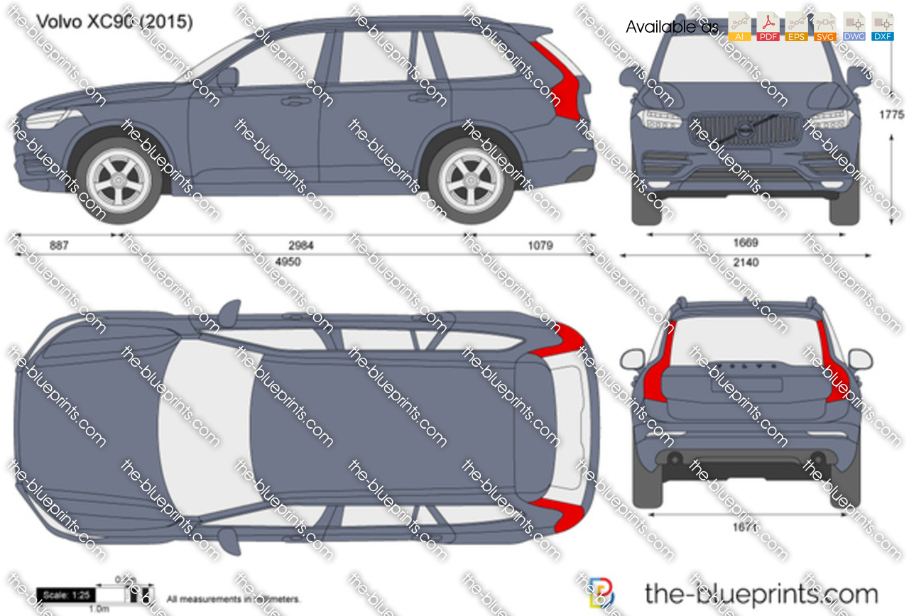 The Blueprints Com Vector Drawing Volvo Xc90