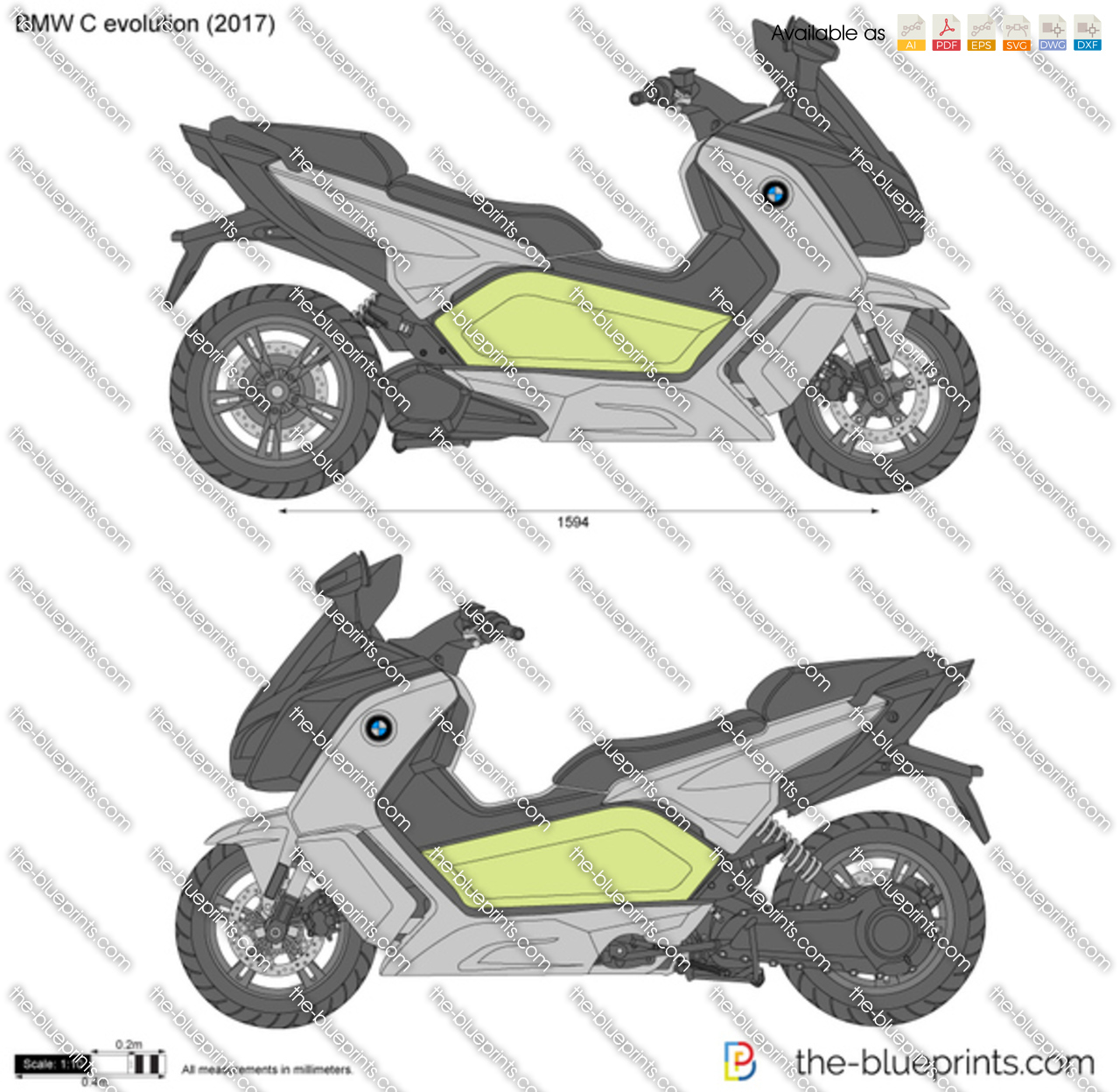 Bmw C Evolution Vector Drawing