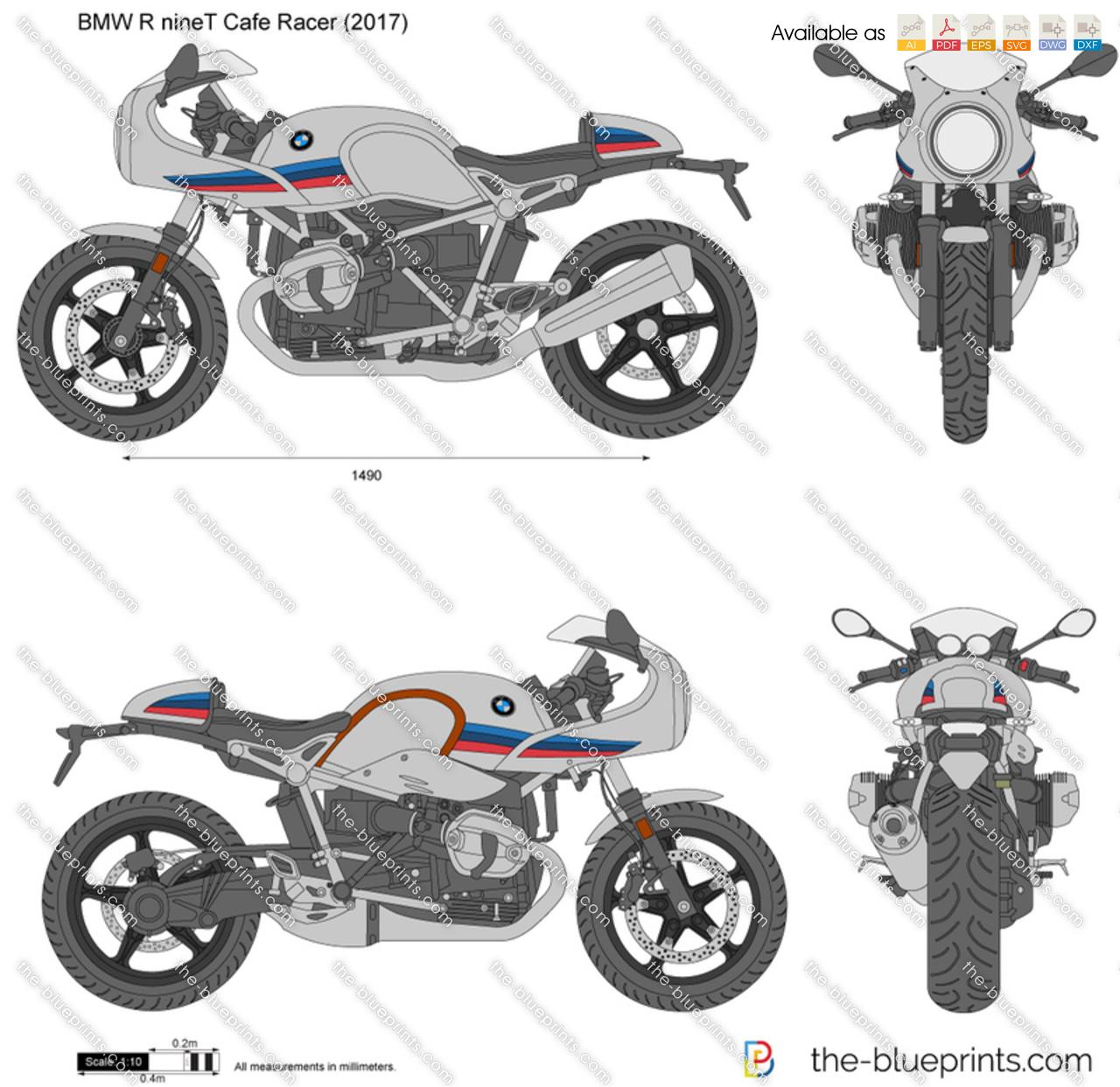 Bmw r ninet cafe racer vector drawing bmw r ninet cafe racer malvernweather Images