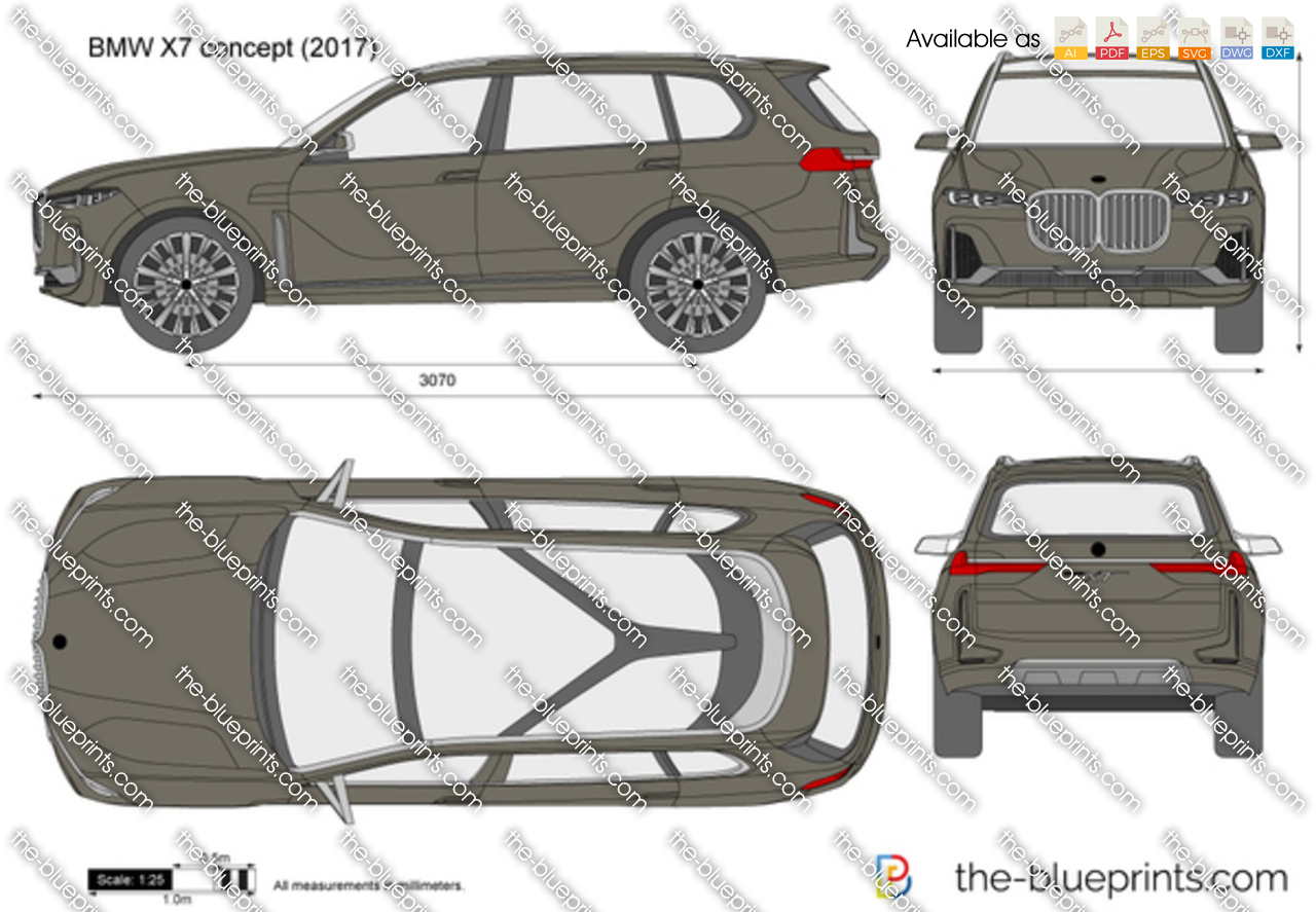 Bmw X7 Concept Vector Drawing
