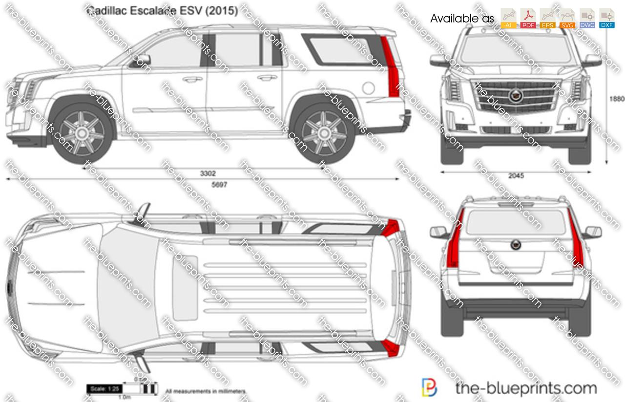 Cadillac Escalade Esv Vector Drawing