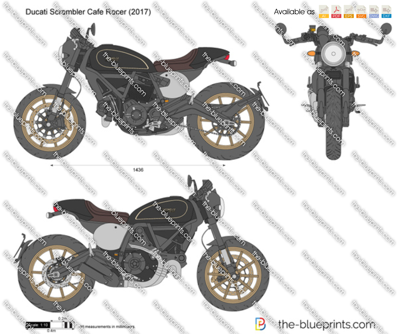 Ducati scrambler cafe racer vector drawing ducati scrambler cafe racer malvernweather Images