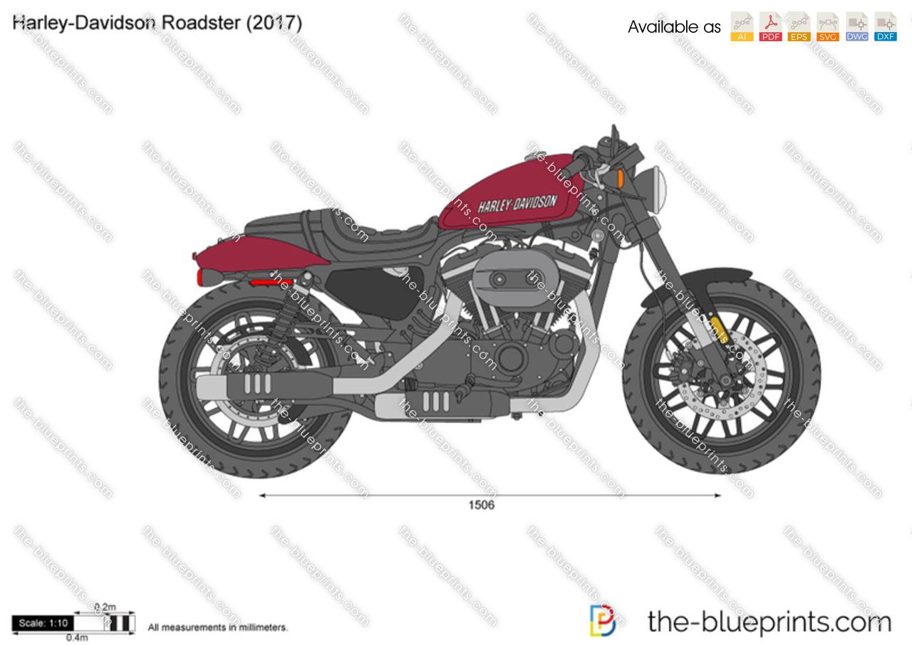 harley davidson roadster vector drawing. Black Bedroom Furniture Sets. Home Design Ideas