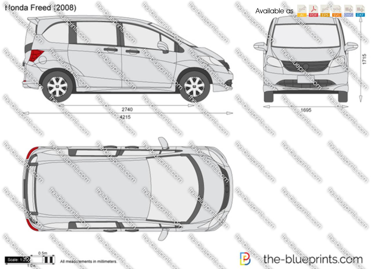 Honda Freed Vector Drawing