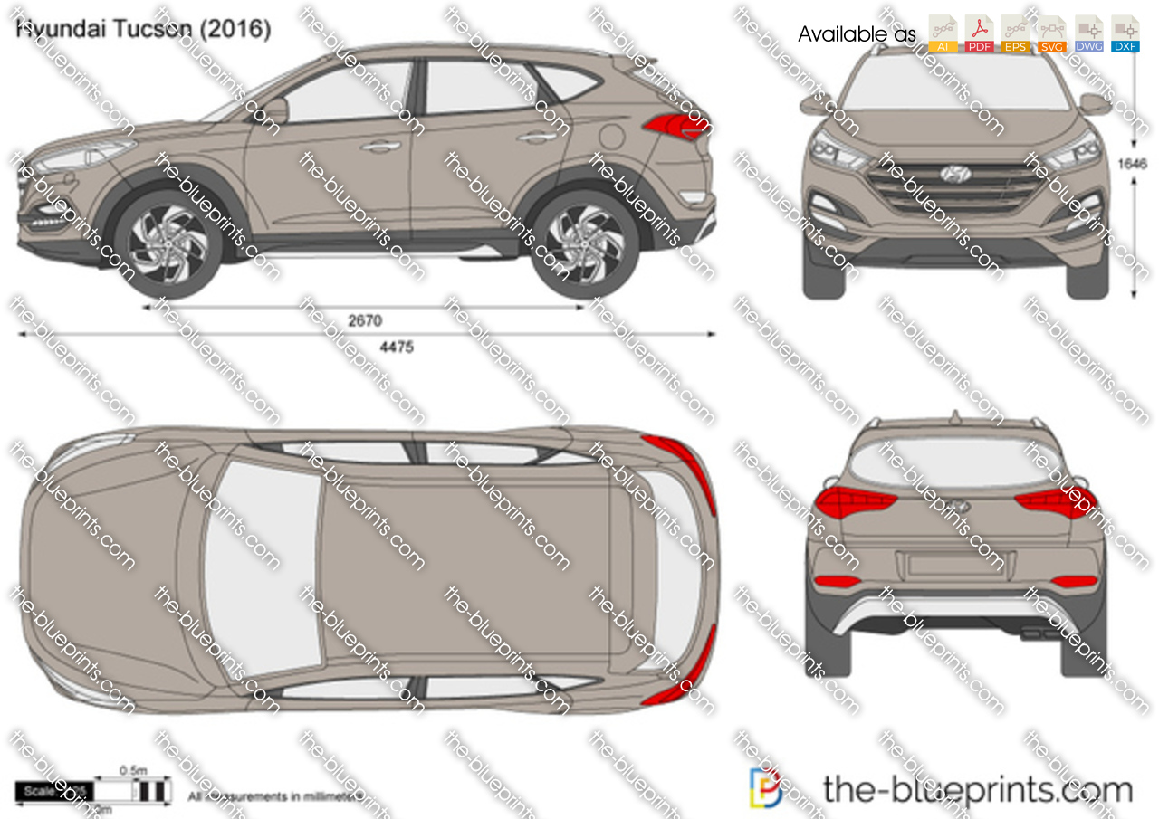 hyundai tucson vector drawing. Black Bedroom Furniture Sets. Home Design Ideas
