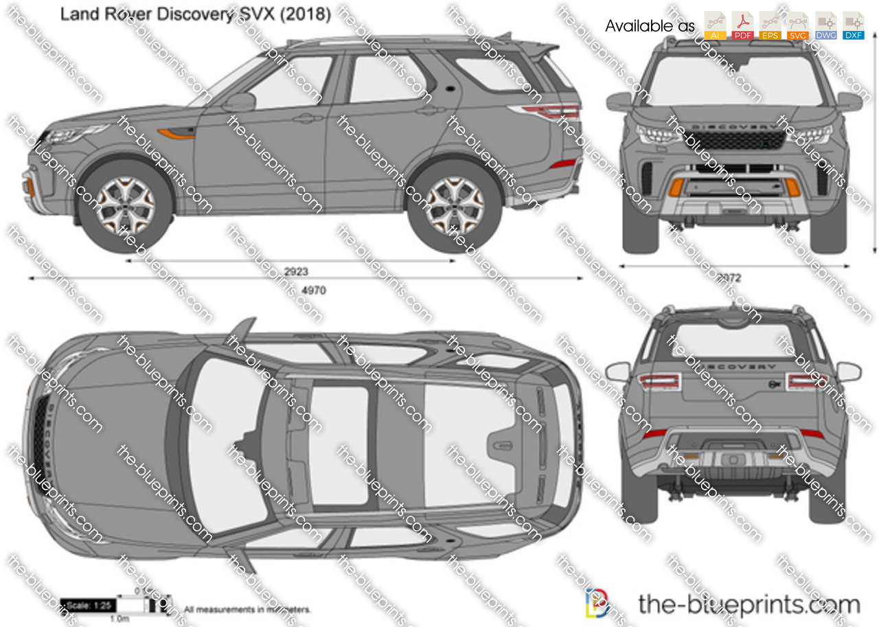 land rover discovery svx vector drawing. Black Bedroom Furniture Sets. Home Design Ideas