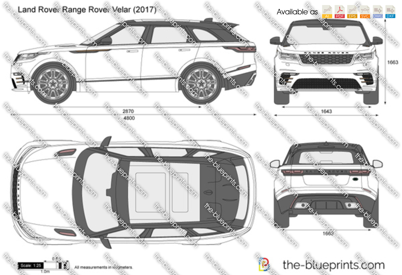 Land Rover Range Rover Velar Vector Drawing