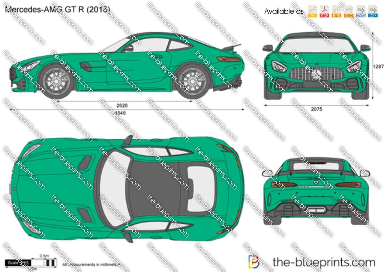 Mercedes Amg Gt R Vector Drawing