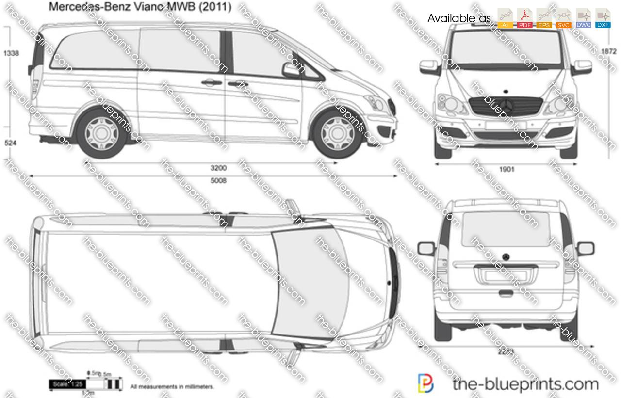 mercedes benz viano mwb vector drawing. Black Bedroom Furniture Sets. Home Design Ideas
