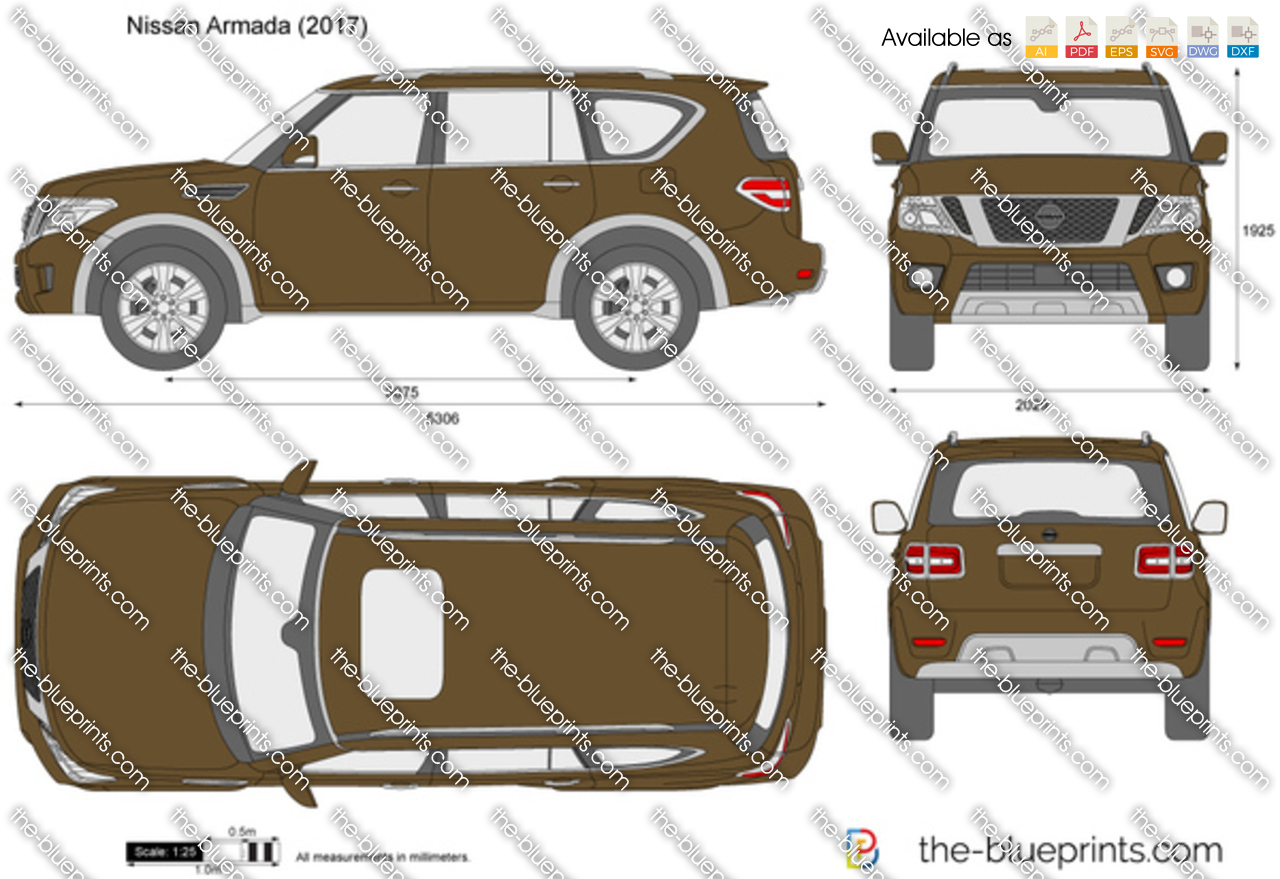Nissan Armada Vector Drawing