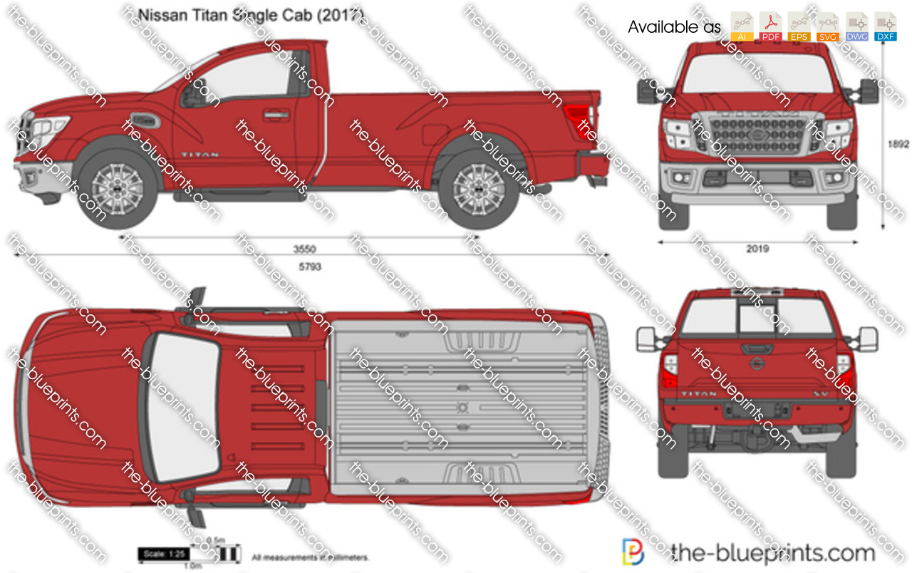 nissan titan single cab vector drawing. Black Bedroom Furniture Sets. Home Design Ideas
