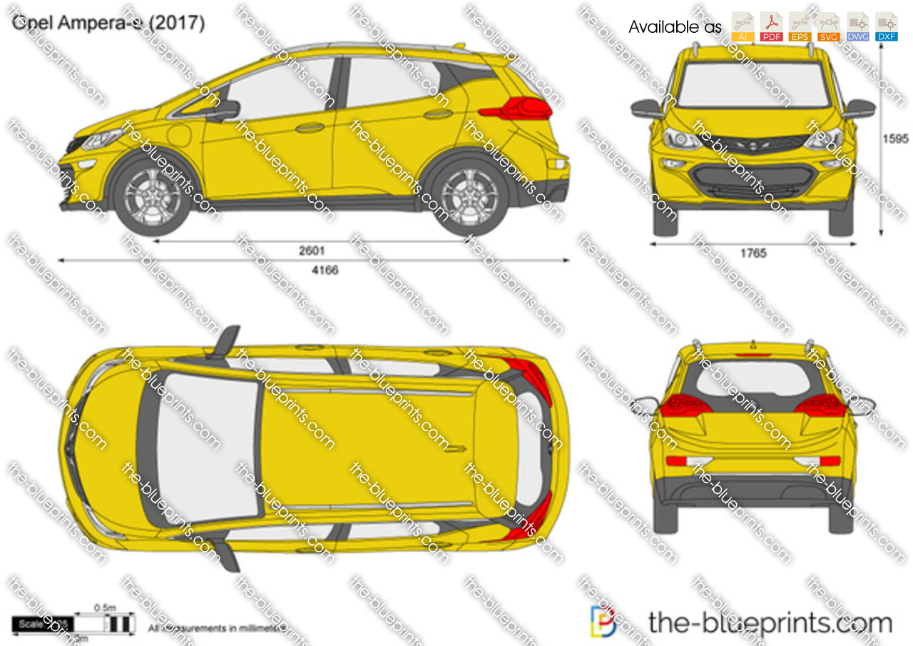 opel ampera e vector drawing. Black Bedroom Furniture Sets. Home Design Ideas