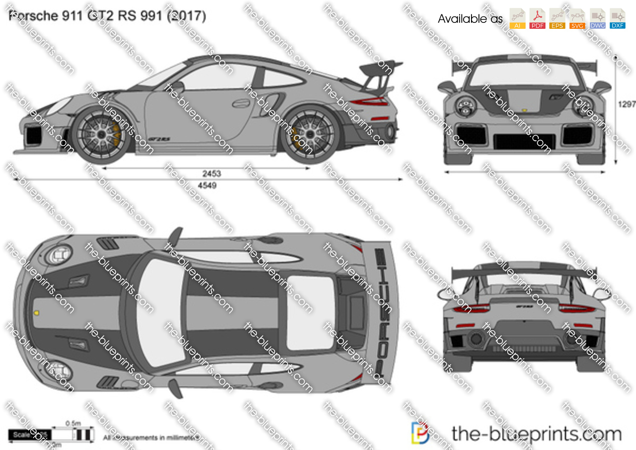 the vector drawing porsche 911 gt2 rs 991. Black Bedroom Furniture Sets. Home Design Ideas