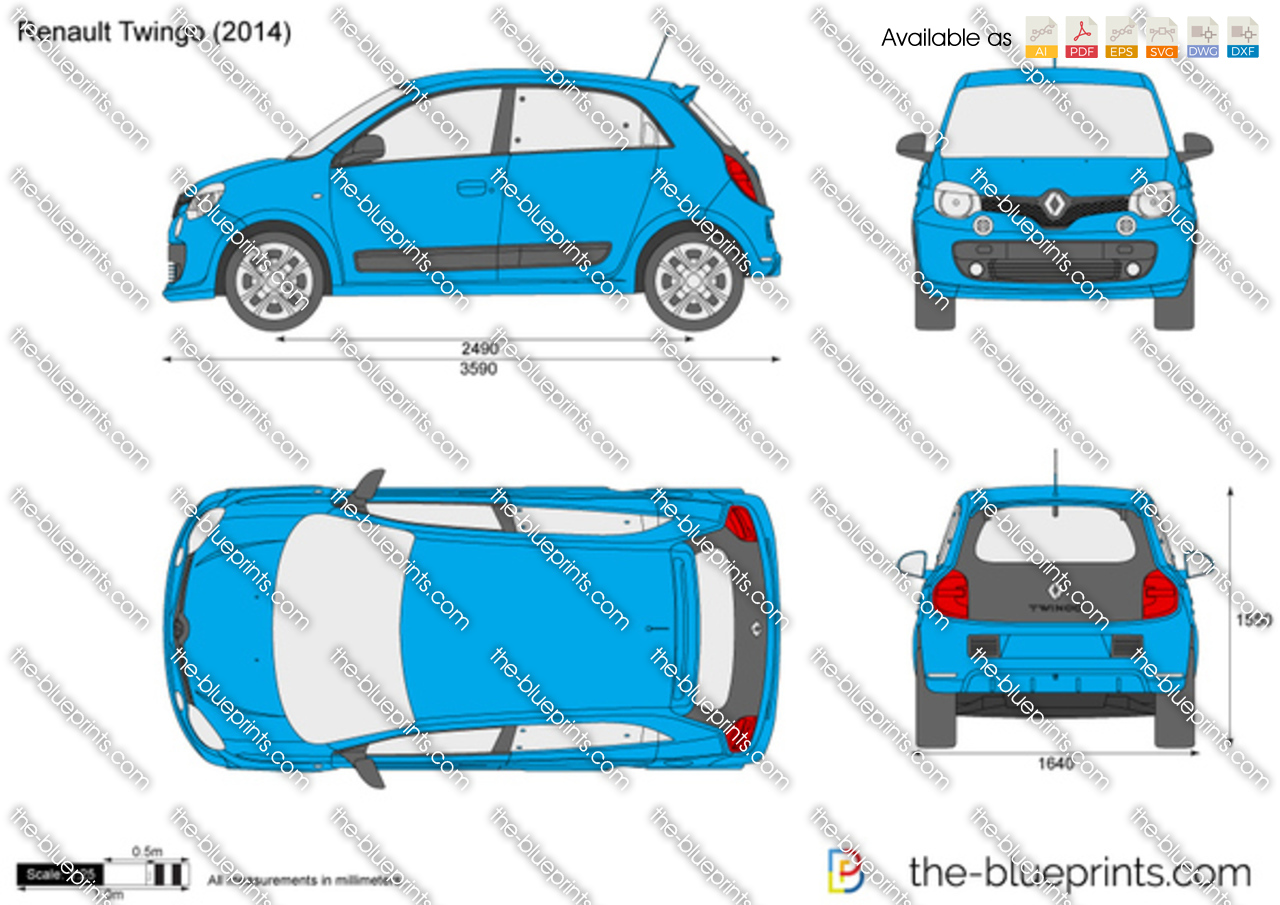Renault Twingo Vector Drawing