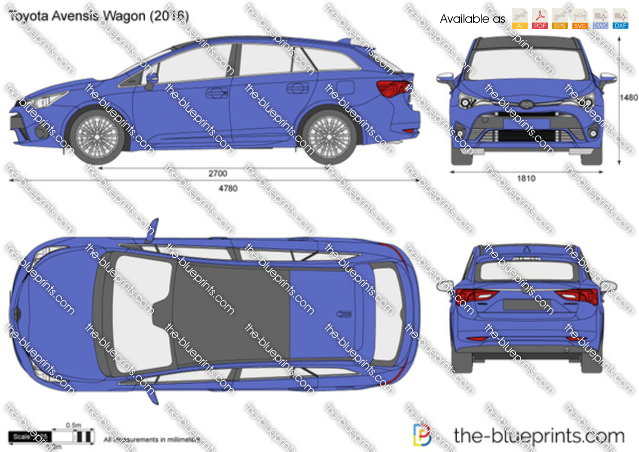 Toyota Avensis Wagon vector drawing
