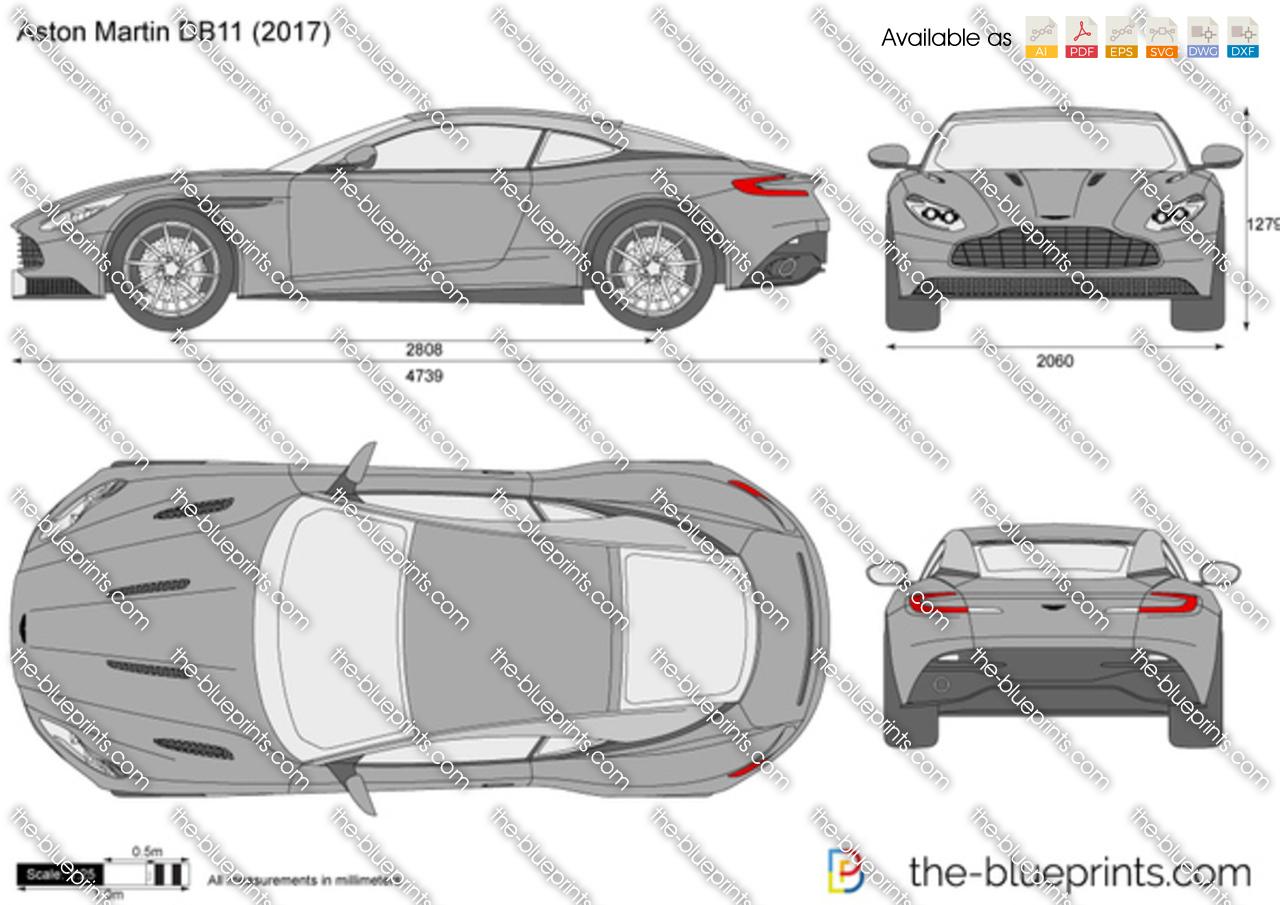 Aston Martin DB11 vector drawing