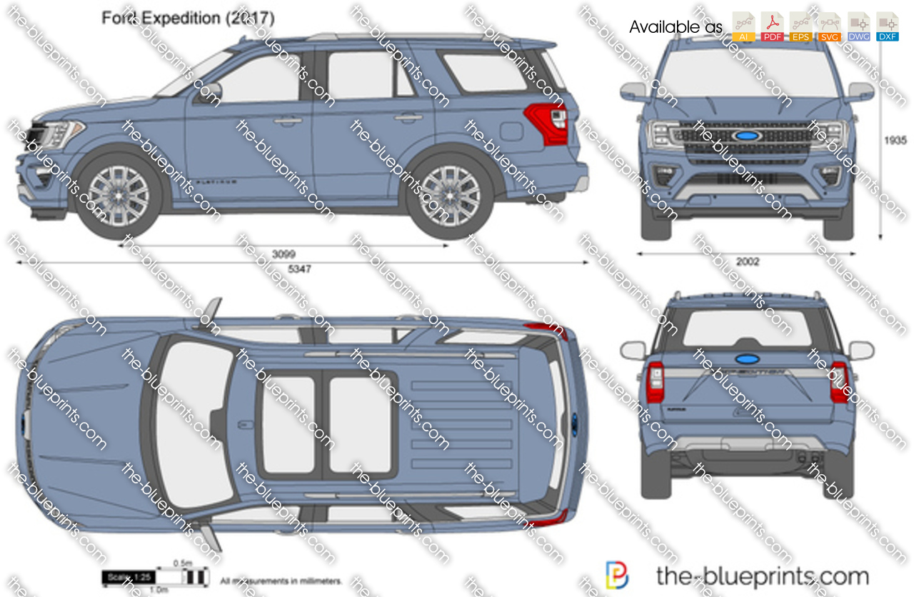 Ford Expedition Vector Drawing