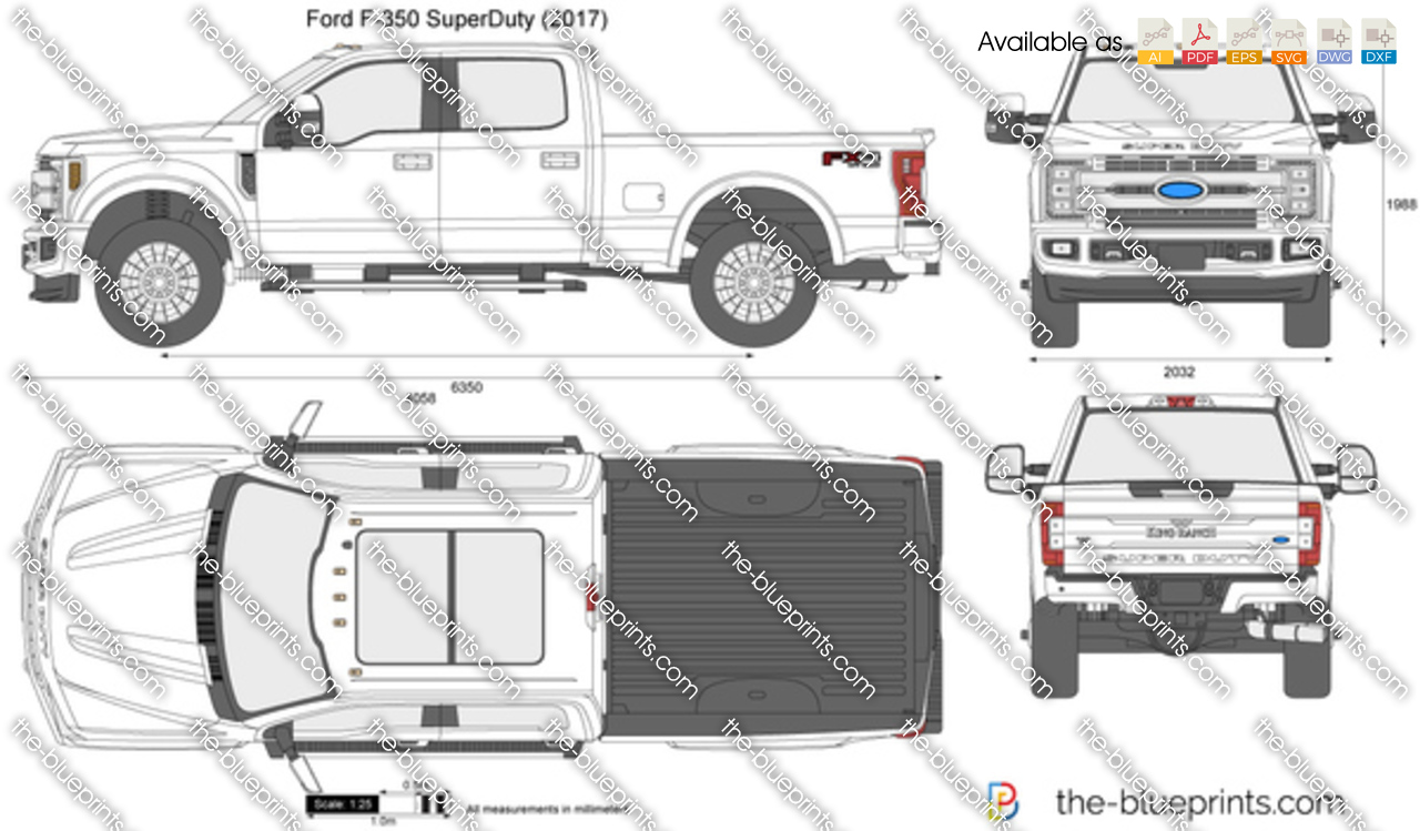 Ford F 350 Superduty Vector Drawing