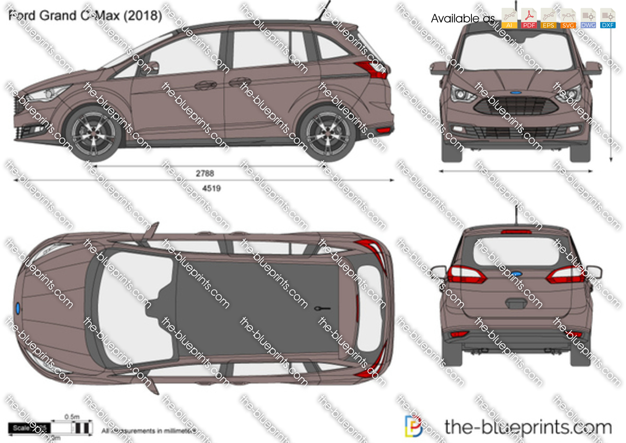 ford grand c max vector drawing. Black Bedroom Furniture Sets. Home Design Ideas