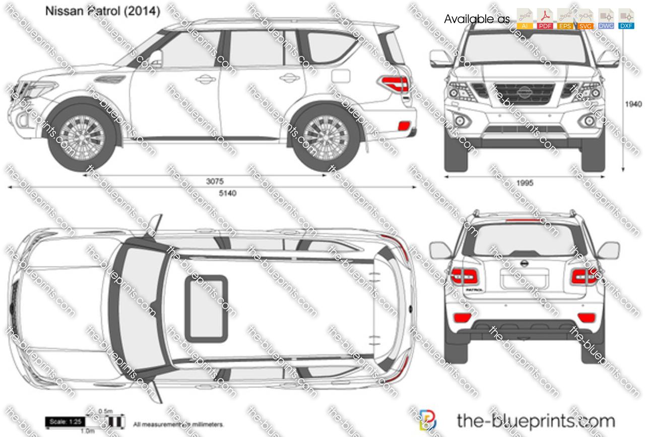 Nissan Patrol Vector Drawing