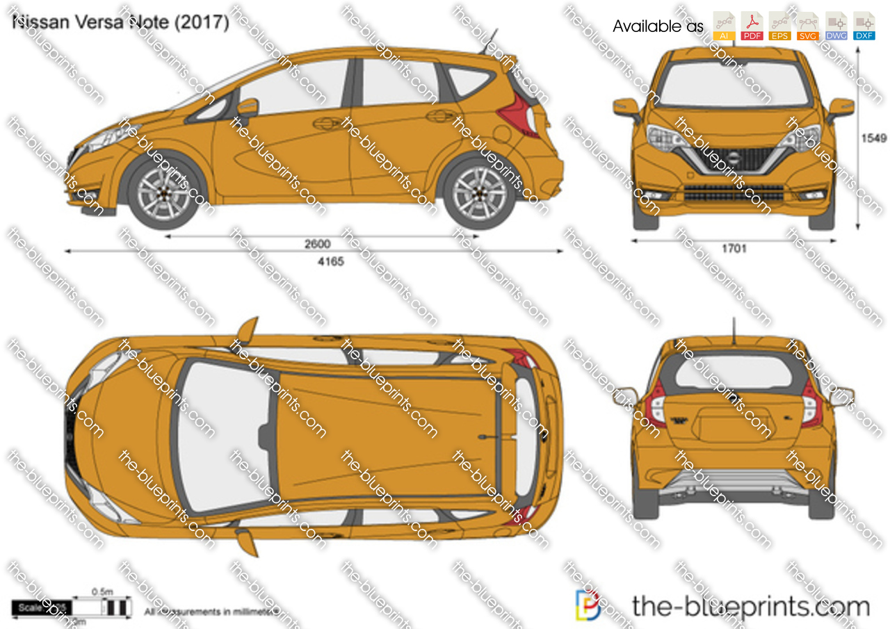 nissan versa note vector drawing. Black Bedroom Furniture Sets. Home Design Ideas