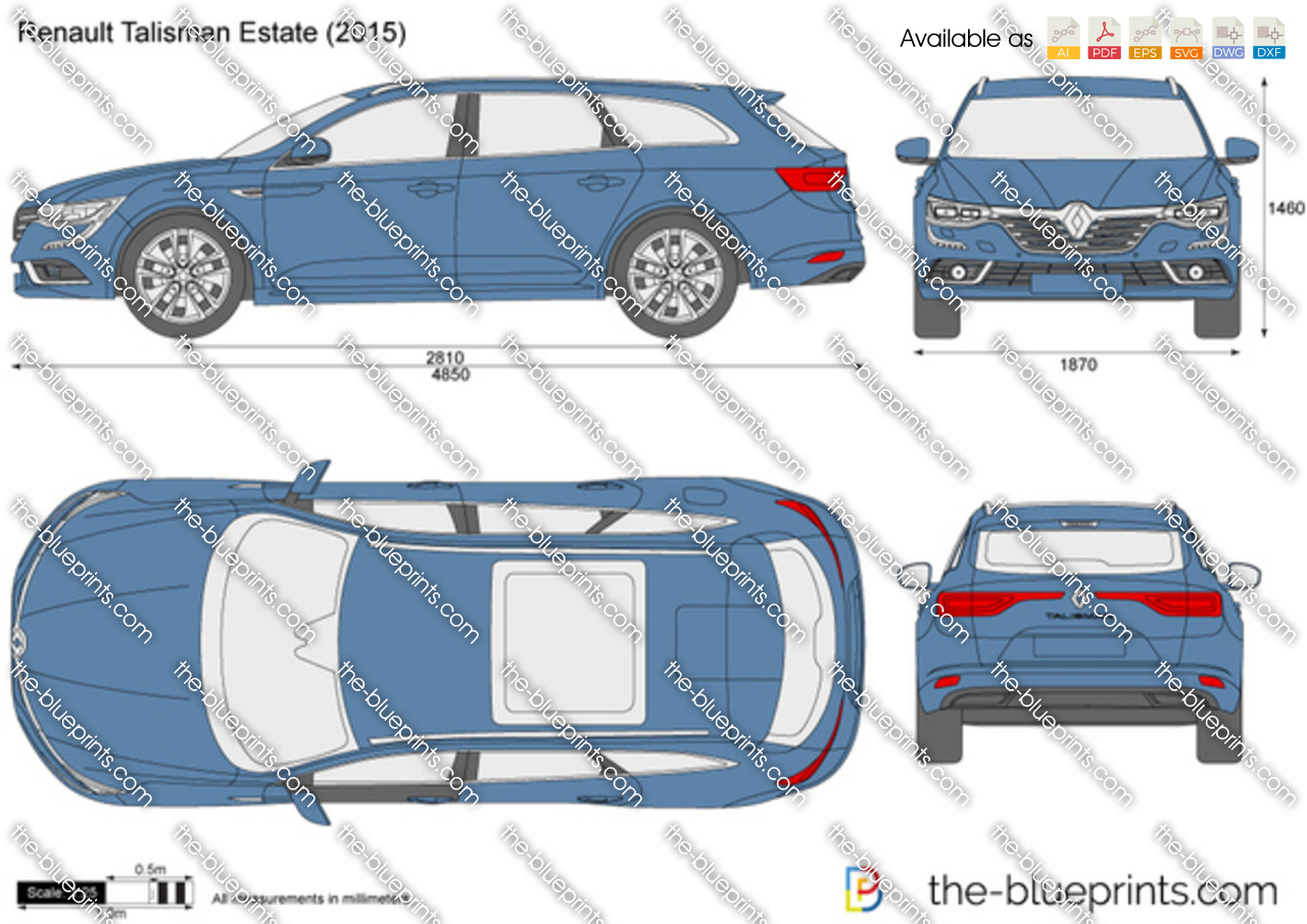renault talisman estate vector drawing. Black Bedroom Furniture Sets. Home Design Ideas