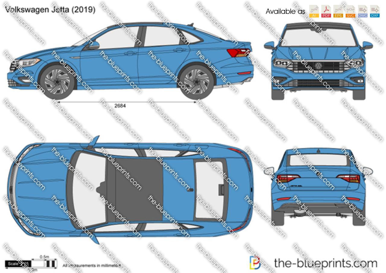 Volkswagen Jetta vector drawing