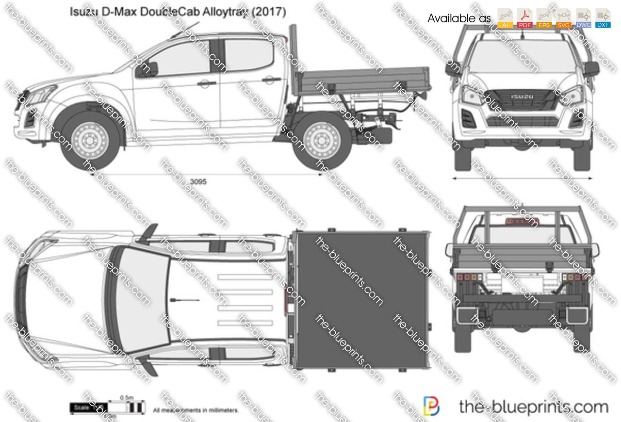 isuzu d max double cab alloytray vector drawing. Black Bedroom Furniture Sets. Home Design Ideas