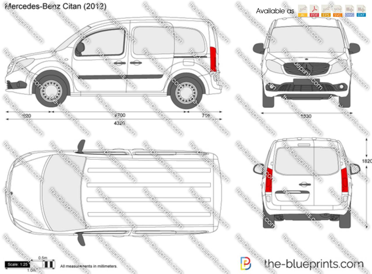 Mercedes Benz Citan Vector Drawing