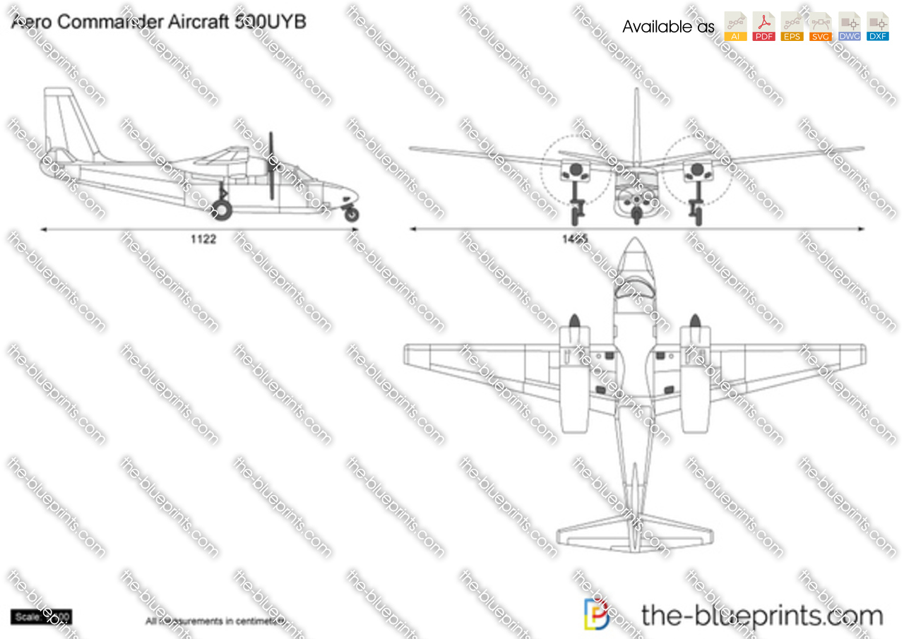 The blueprints vector drawing aero commander aircraft 500uyb malvernweather Images