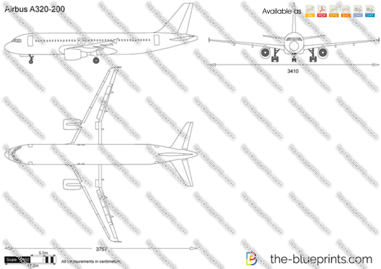 The Vector Drawing Airbus A320 200