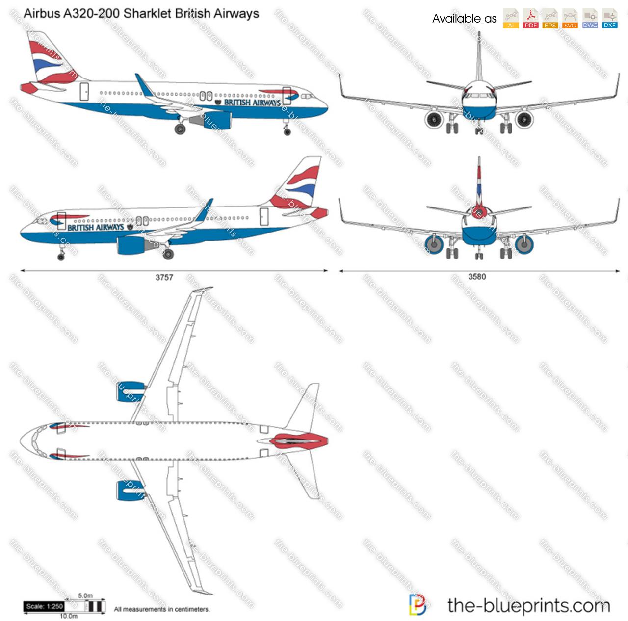 Airbus A320-200 Sharklet British Airways