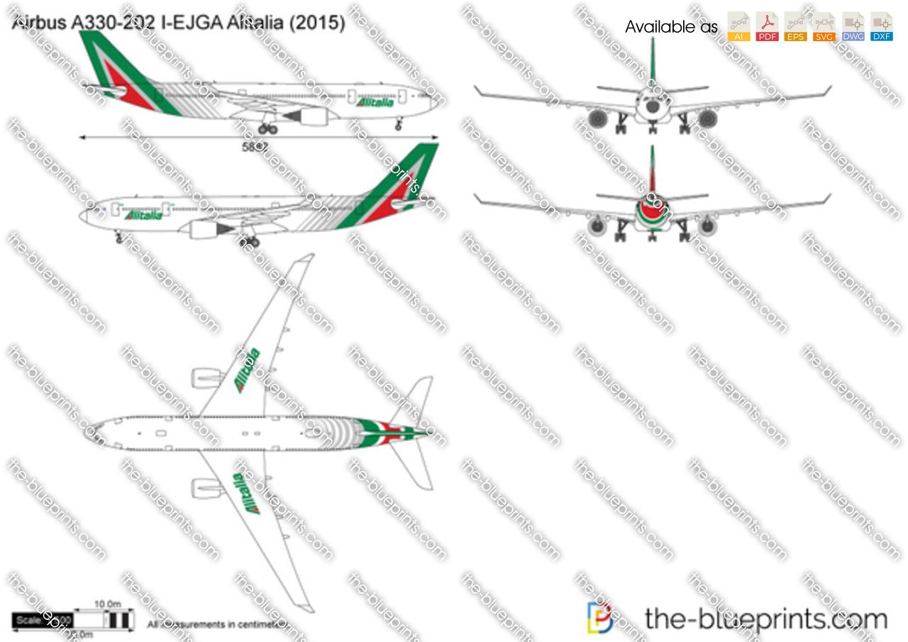Airbus A330-202 I-EJGA Alitalia 2016