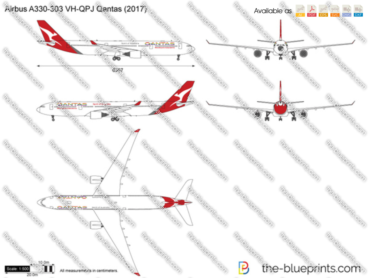 Airbus A330-303 VH-QPJ Qantas 2019