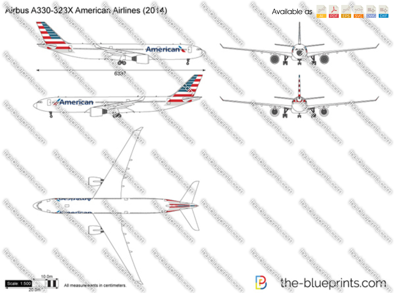 Airbus A330-323X American Airlines 2017