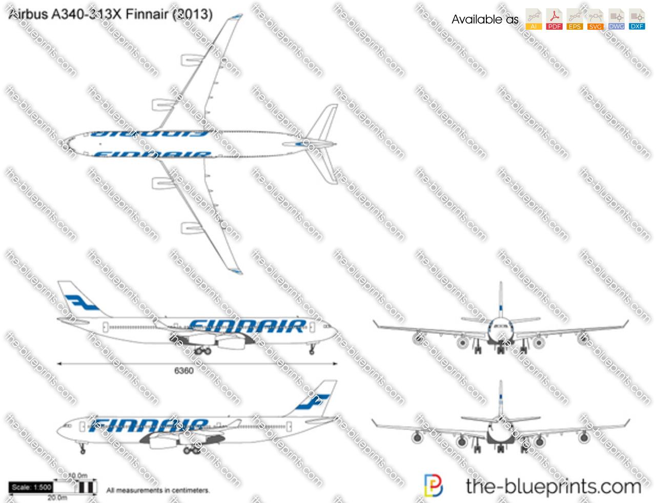 Airbus A340-313X Finnair