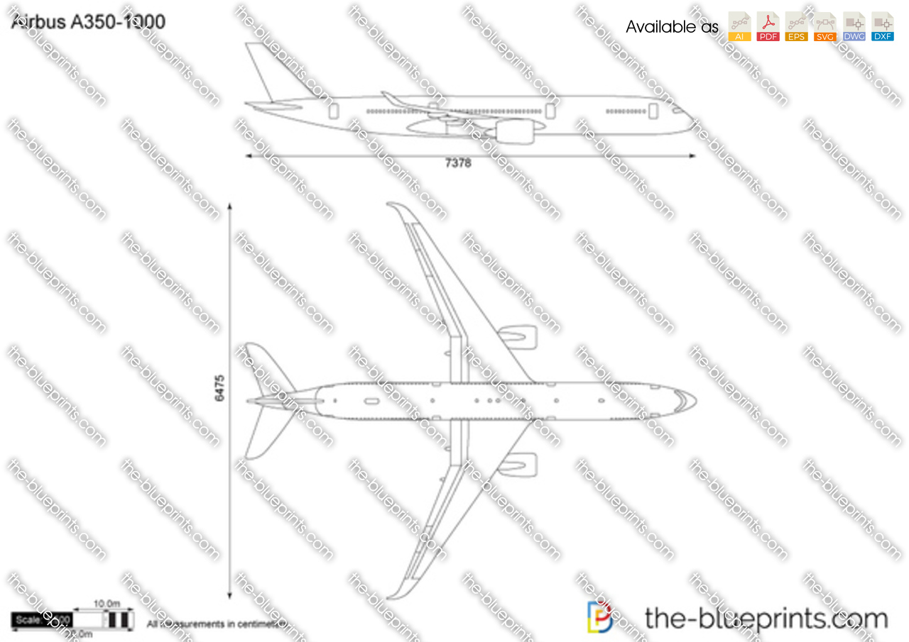 The Vector Drawing Airbus A350 1000