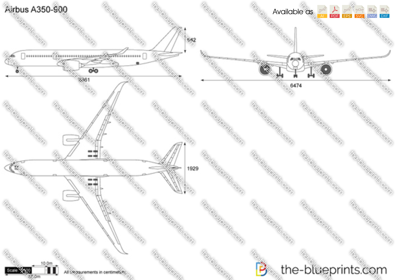 Http Www The Blueprints Com Vectordrawings Show 4084 Airbus A350 900