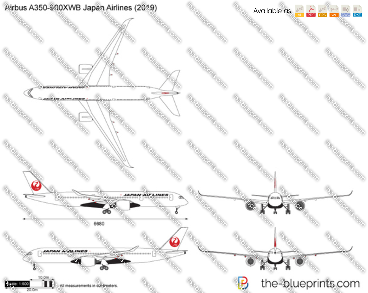 Airbus A350-900XWB Japan Airlines