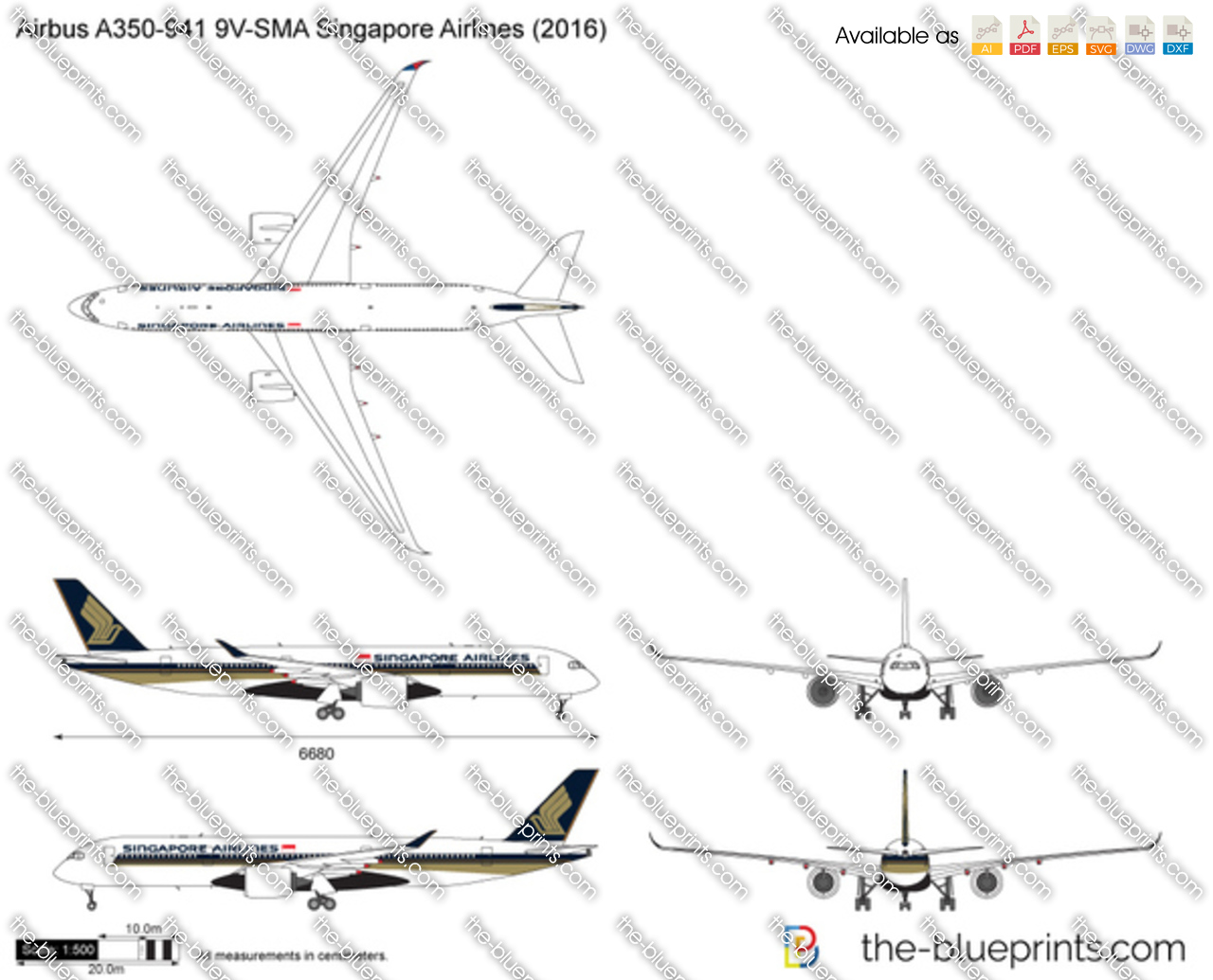Airbus A350-941 9V-SMA Singapore Airlines