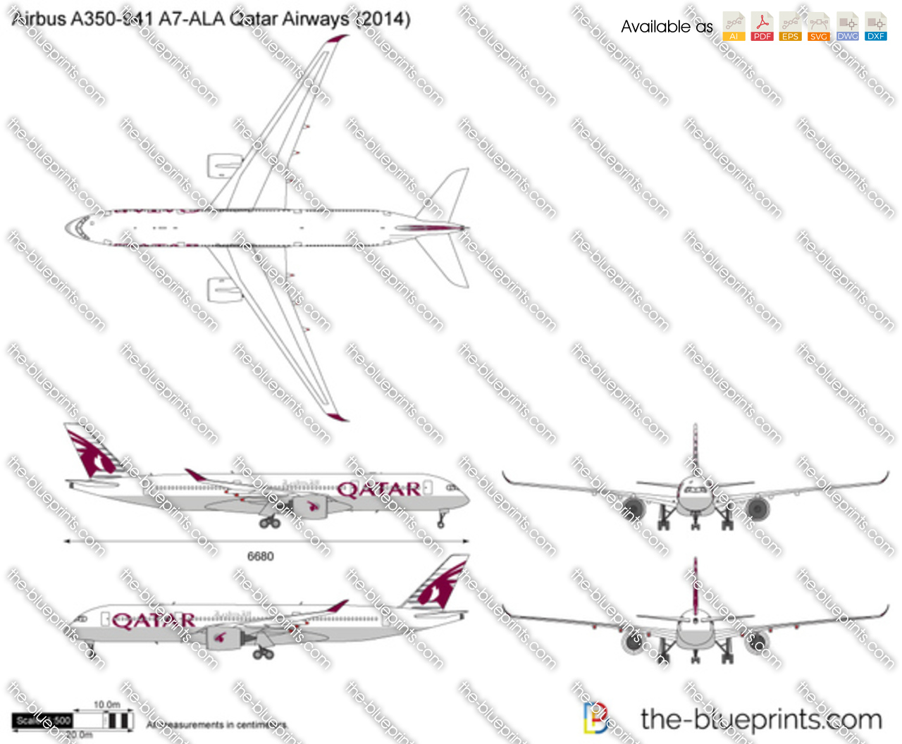 Airbus A350-941 A7-ALA Qatar Airways 2017