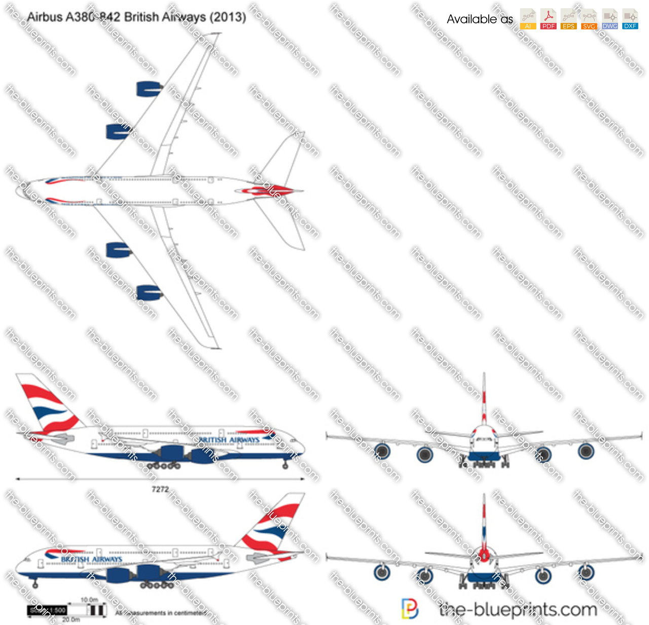 Airbus A380-842 British Airways 2016