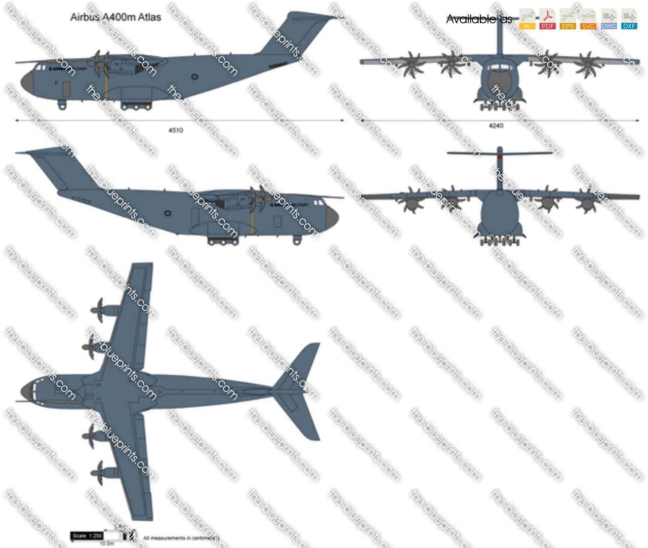 The Vector Drawing Airbus A400m Atlas